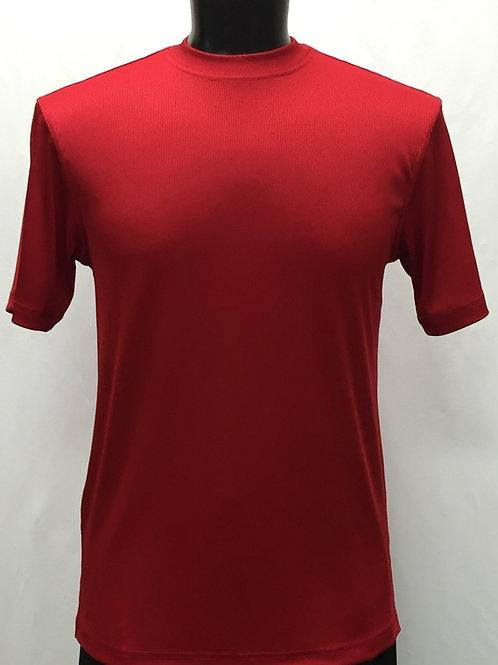 Log-In By Bassiri -218 - Short Sleeve Mock Neck-RED