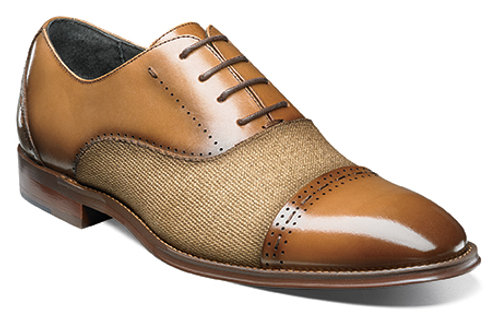 STACY ADAMS I 25222- BARRINGTON Cap Toe Oxford I TAN
