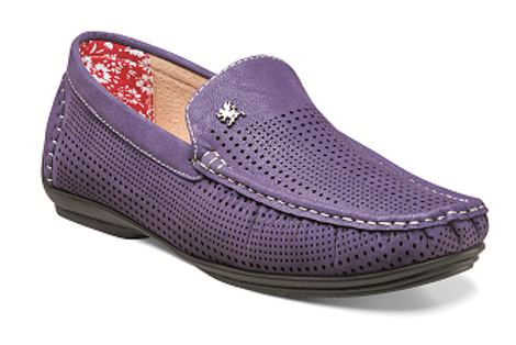25089 I STACY ADAMS PIPPIN DRIVING SHOES I PURPLE