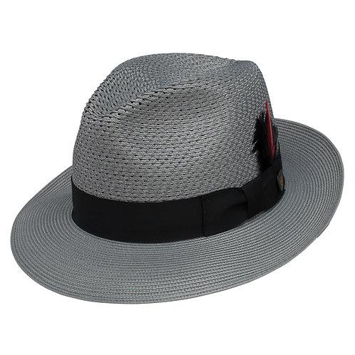 DOBBS-Coolman Straw Fedora Hat-Gray