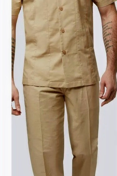 6720 I STACY ADAMS BASIC LINEN SET I KHAKI