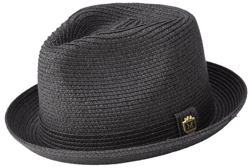 45a38f18182db9 H-56 I MONTIQUE STRAW HAT I BLACK