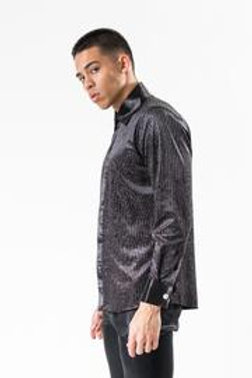 BARABAS I LT22 LONG SLEEVE SHIRT CLASSIC FIT  I BLACK/SILVE