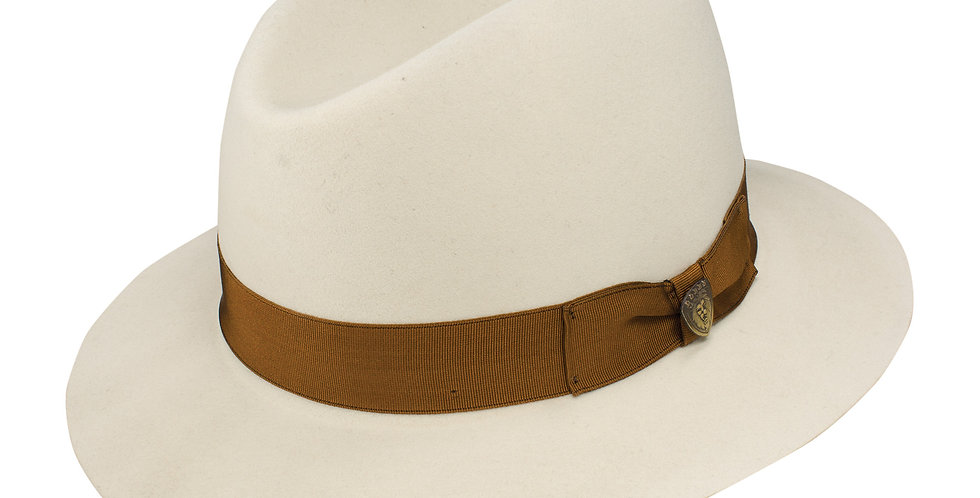 DOBBS I KINGSTON I FELT FEDORA I BONE/COGNAC BAND