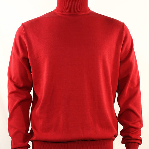 631 I BASSIRI LONG SLEEVE TURTLE NECK SWEATERS I RED