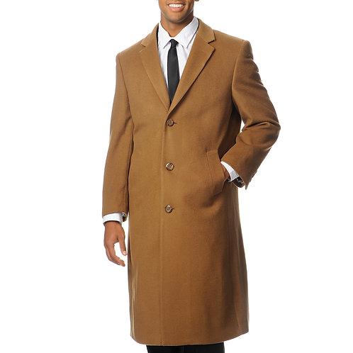L40913C I Pronto Moda Men's 'Harvard' Camel Cashmere Blend Long Top Coat
