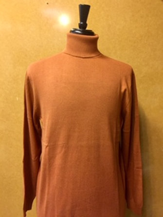 LAVANE' I 501T LONG SLEEVE TURTLE NECK  SWEAER I COPPER