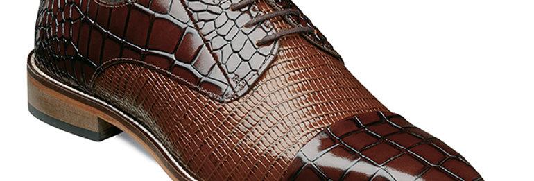 25321 I STACY ADAMS TALARICO  Leather Sole Cap Toe Oxford I BROWN MULTI