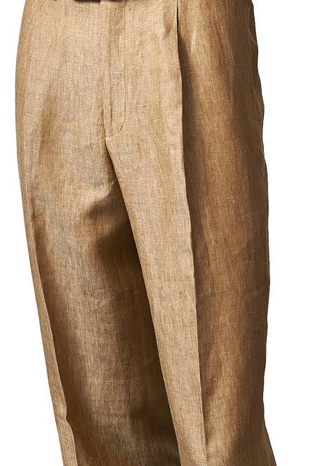 P05116 I INSERCH 100 % LINEN PANTS  I COPPER-