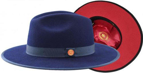 MO-205 I BRUNO MONARCH HAT I NAVY RED