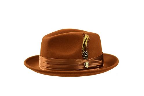 UN-114 I BRUNO CAPELO GIOVANI HAT I BRANDY BROWN