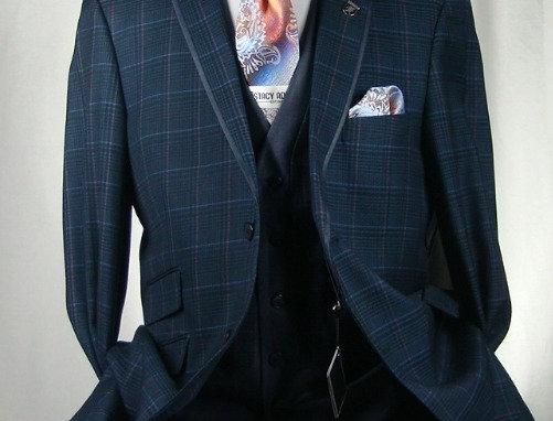 STACY ADAMS-5086-032 4 PCS VESTED SUIT