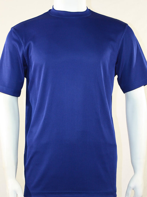 Log-In By Bassiri -218 - Short Sleeve Mock Neck-Midnight Blue