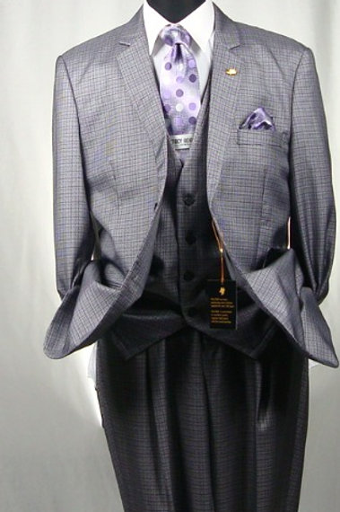 FALCONE-5100-001 LUCKY VISTED 3PCS SUIT
