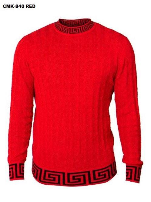 CMK-840 I PRESTIGE CREW NECK SWEATER I RED