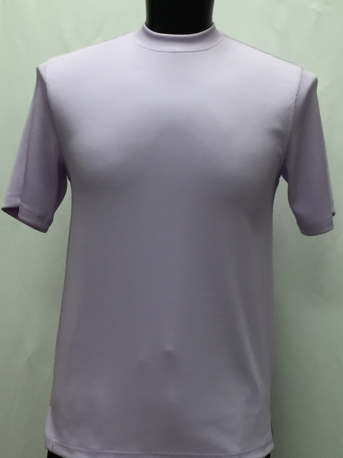Log-In By Bassiri -218 - Short Sleeve Mock Neck-LILAC