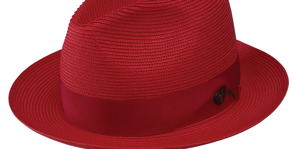 DOBBS I ROSEBUD STRAW HAT I RED