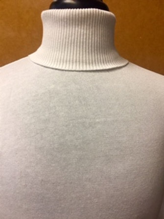 LAVANE' I 501T LONG SLEEVE TURTLE NECK  SWEAER I WHITE