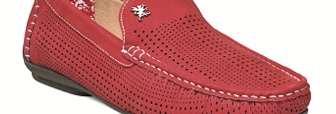 25089 I STACY ADAMS PIPPIN DRIVING SHOES I RED