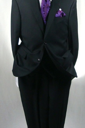 CARAVELLI I S69212V-BLACK-VESTED SUIT