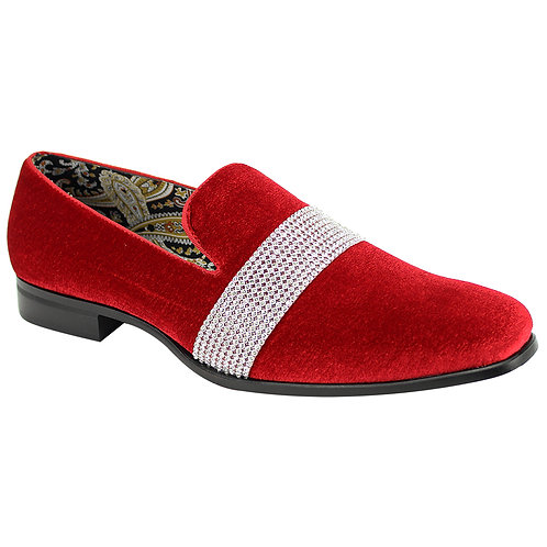 AFTER MIDNIGHT SHOES   6715   FIRE RED/SILVER