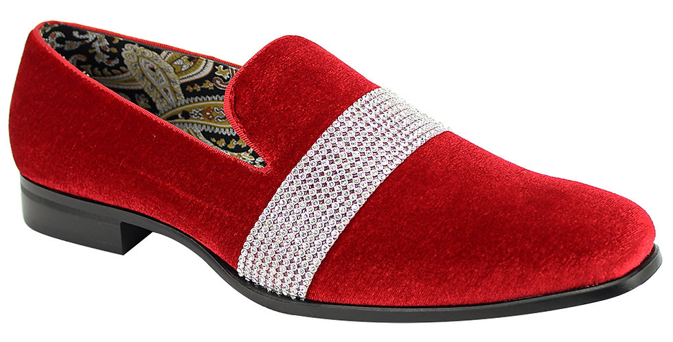 AFTER MIDNIGHT SHOES | 6715 | FIRE RED/SILVER