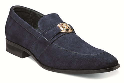 25107-415 I STACY ADAMS MANDELL I NAVY SUEDE
