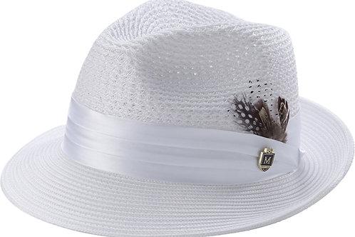 H-34 I MONTIQUE STRAW HAT I WHITE