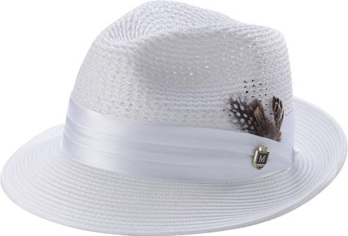 f346b55dc73b95 H-34 I MONTIQUE STRAW HAT I WHITE