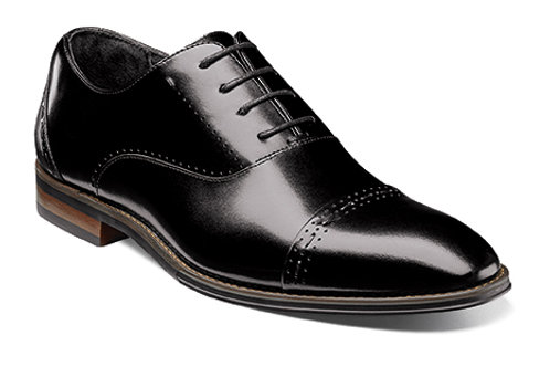 STACY ADAMS I 25190 BARRIS Cap Toe Oxford I BLACK