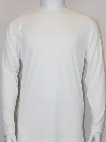 BASSIRI L/S MOCK NECK-628-WHITE