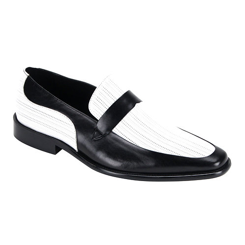 SL0011I STEVEN LAND SHOES I BLK/WHITE