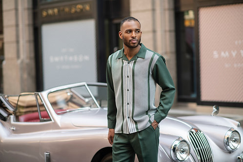 MONTIQUE | 2060 LONG SLEEVE  WALKING SUIT  I GREEN