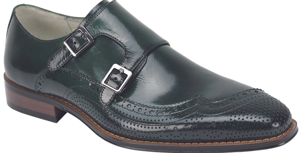 KOLEMAN  I GIOVANIDRESS SHOES  I FOREST GREEN
