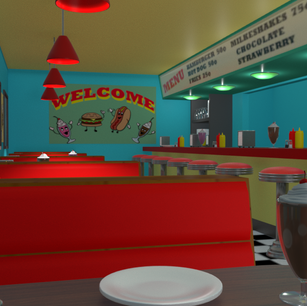 1950's Diner Environment