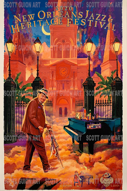 2020 NEW ORLEANS JAZZ & HERITAGE FESTIVAL OFFICIAL POSTER ARTIST PROOF