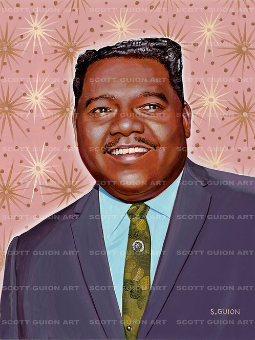 FATS DOMINO GICLEE' ON ARCHIVAL PAPER