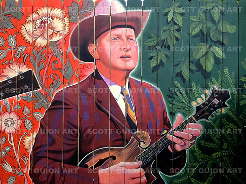 BILL MONROE GICLEE' ON ARCHIVAL PAPER