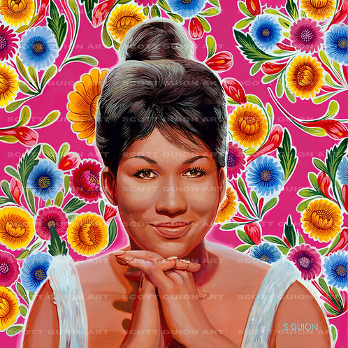 ARETHA FRANKLIN GICLEE' ON ARCHIVAL PAPER