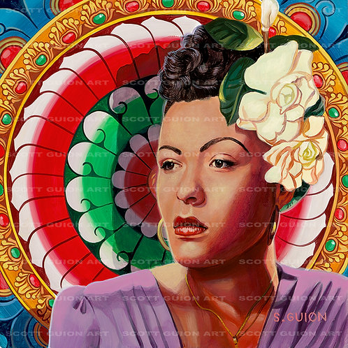 BILLIE HOLIDAY GICLEE' ON ARCHIVAL PAPER