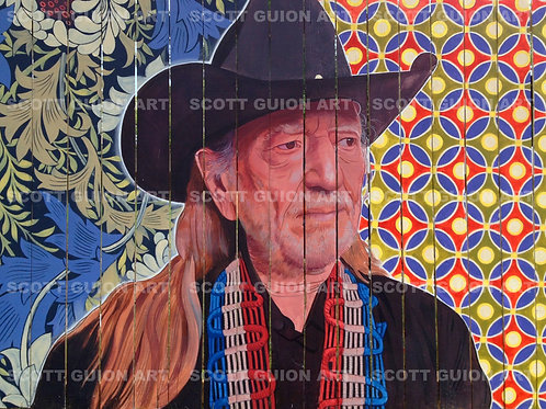 WILLIE NELSON GICLEE' ON ARCHIVAL PAPER