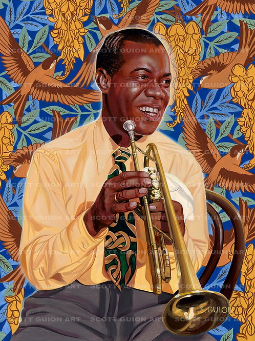 LOUIS ARMSTRONG GICLEE' ON ARCHIVAL PAPER
