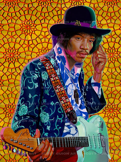 JIMI HENDRIX GICLEE' ON ARCHIVAL PAPER