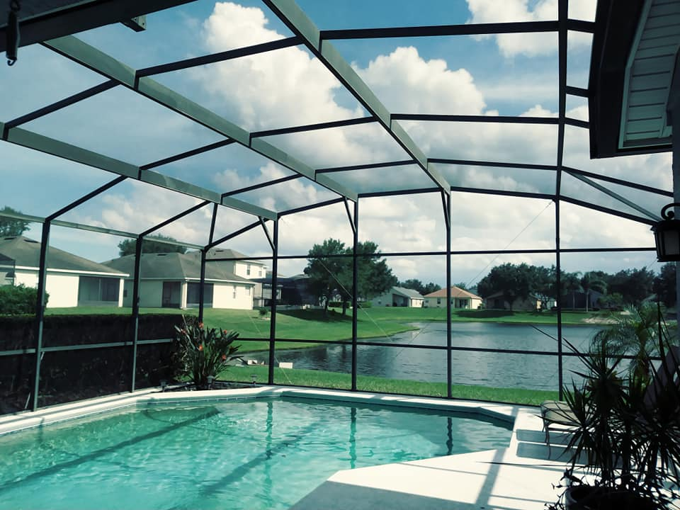 pool screen repair service