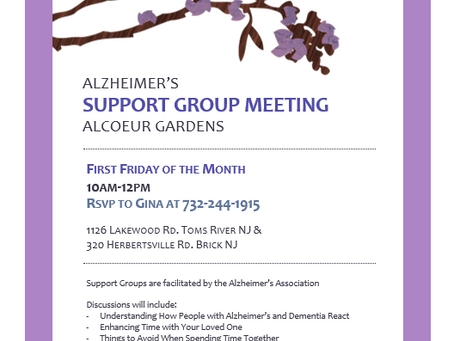 Monthly Alzheimer's & Dementia Caregiver Support Group