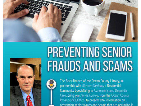 Preventing Senior Frauds and Scams