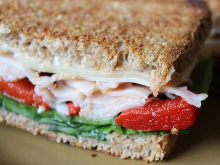 Alcoeur Apron's Grilled Turkey and Swiss Sandwich