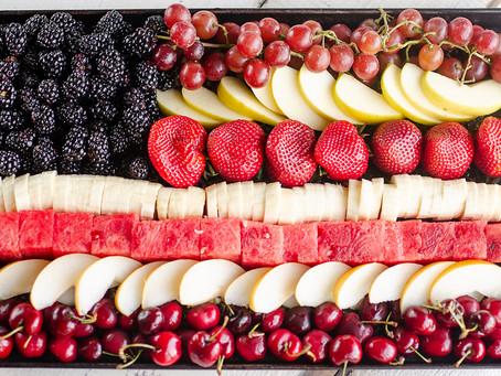Alcoeur Apron's Patriotic Flag Fruit Platter