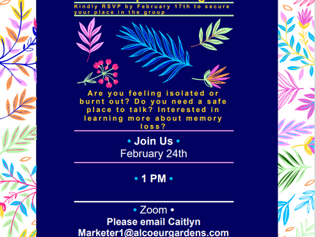 February Virtual Support Group