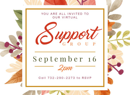Our next Virtual Support Group Meeting